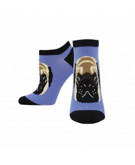 Женские носочки Socksmith «Мопс» фиолетовые