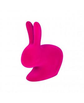 Сидение Qeeboo Rabbit Baby фуксия флок