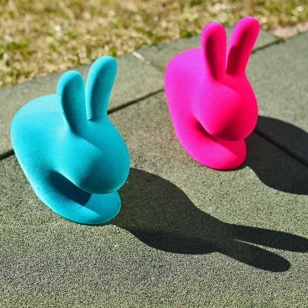 Держатель для книг Qeeboo 'Rabbit XS' фуксия - Фото 2