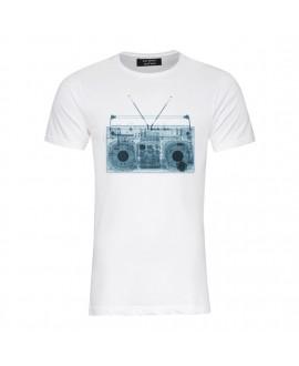 Мужская футболка Saint Noir «Геттобластер» белая