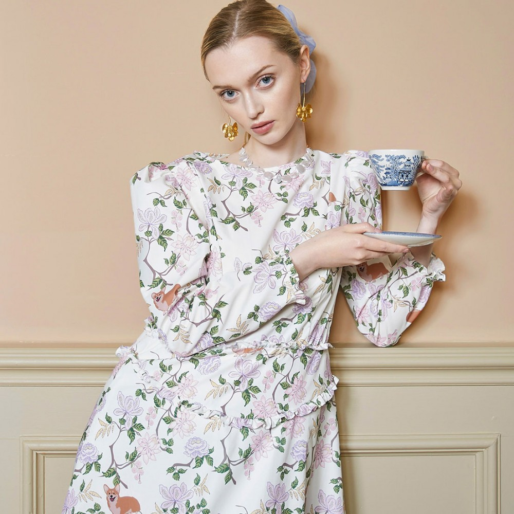 Платье Sister Jane 'Orchard Bloom' с корги