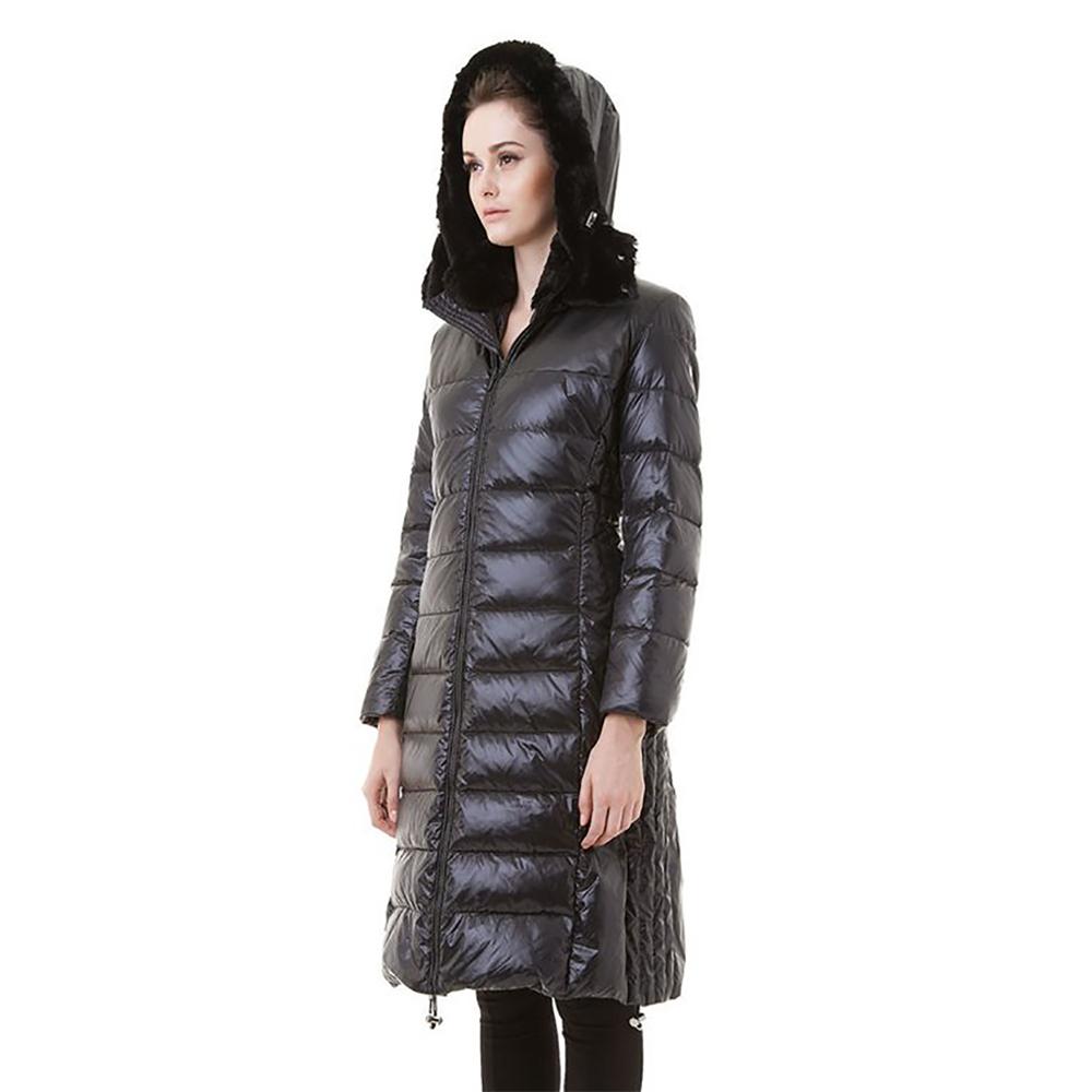 Пуховое пальто Snowman New York '818A' черное - Фото 2
