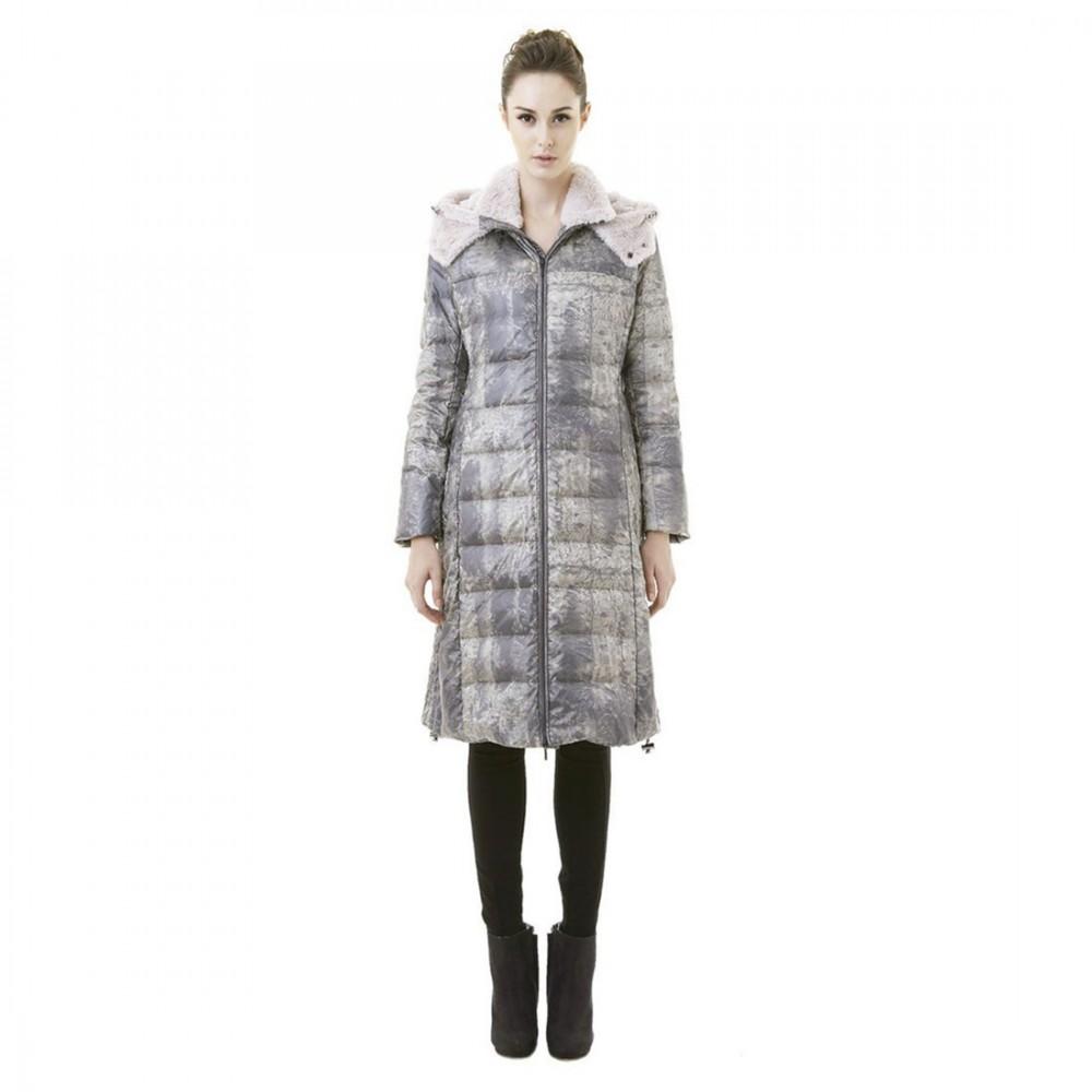 Пуховое пальто Snowman New York '818A' в цвете Bright Ash - Фото 2