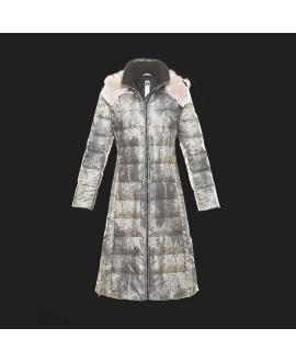 Пуховое пальто Snowman New York '818A' в цвете Bright Ash