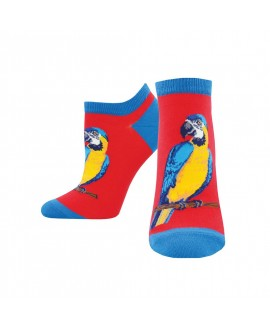 Женские носочки Socksmith «Попугаи» красные