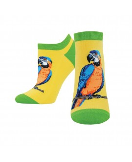 Женские носочки Socksmith «Попугаи» желтые