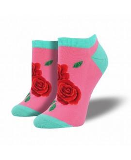 Женские носочки Socksmith «Розы» розовые