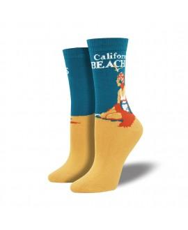 Женские носки Socksmith «Пляжи Калифорнии» бамбуковые