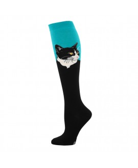 Гольфы Socksmith «Портрет кота» голубые