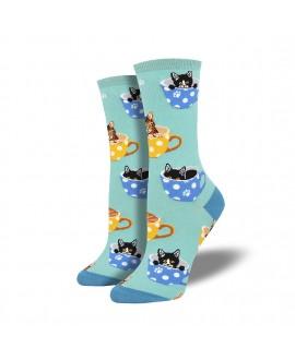 Женские носки Socksmith «Котофеин» голубые