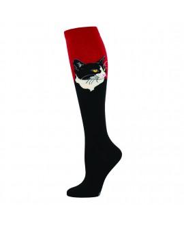 Гольфы Socksmith «Портрет кота» красные