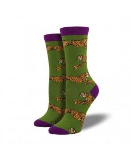 Носки Socksmith «Гепарды» бамбуковые зеленые