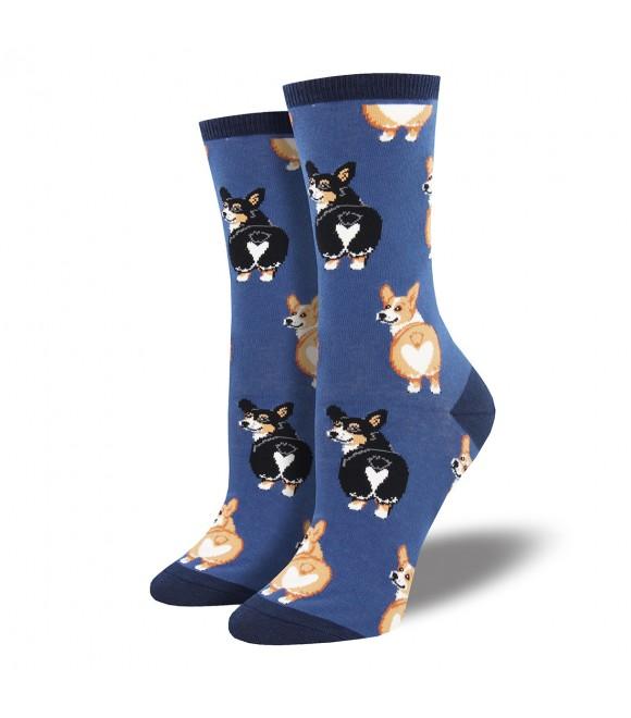 Женские носки Socksmith «Попа корги» синие