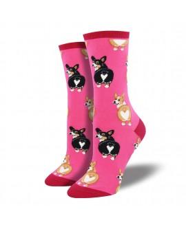 Женские носки Socksmith «Попа корги» розовые