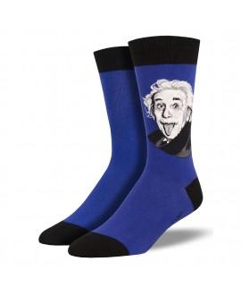 Мужские носки Socksmith «Портрет Эйнштейна» синие