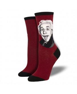 Женские носки Socksmith «Портрет Эйнштейна» красные