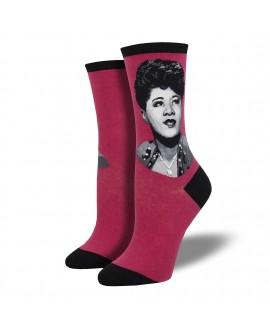 Женские носки Socksmith «Портрет Эллы» ягодные