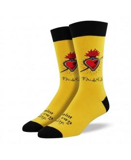 Мужские носки Socksmith «Сердце Фриды» жёлтые
