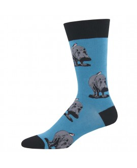 Мужские носки Socksmith «Гиппопотамы» синие