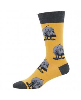 Мужские носки Socksmith «Гиппопотамы» желтые