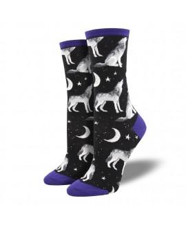 Женские носки Socksmith «Вой на Луну» черные