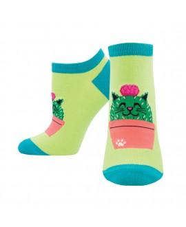 Женские носочки Socksmith «Котокактус» зеленые