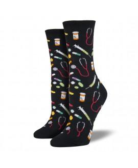 Женские носки Socksmith «Медицина» черные