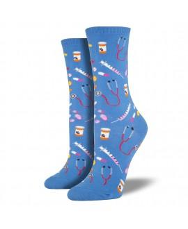 Женские носки Socksmith «Медицина» голубые