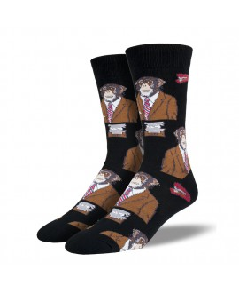 Мужские носки Socksmith «Monkey Biz» черные