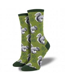 Женские носки Socksmith «Белка» зеленые