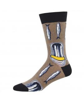 Мужские носки Socksmith «Шпроты» коричневые