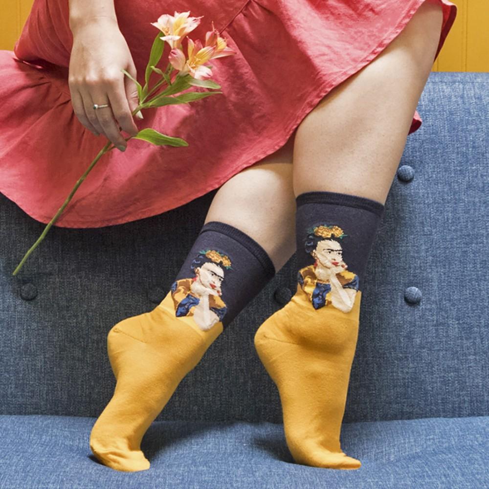Женские носки Socksmith «Задумчивая Фрида» желтые