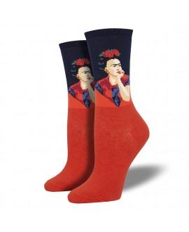 Женские носки Socksmith «Задумчивая Фрида» красные
