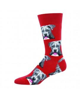 Мужские носки Socksmith «Питбуль» красные