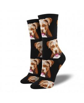 Женские носки Socksmith «Питбуль» чёрные