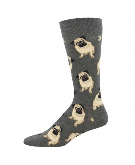 Мужские носки Socksmith с мопсами (King Size, 46-50)