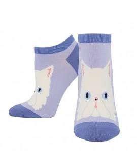 Женские носочки Socksmith «Персидский кот» лавандовые