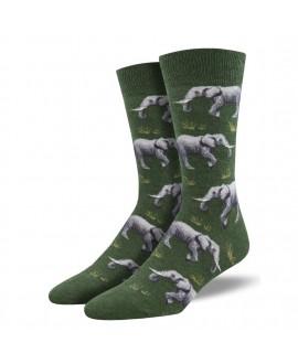 Мужские носки Socksmith «Слоны» зеленые