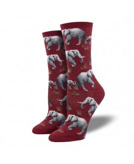 Женские носки Socksmith «Слоны» красные