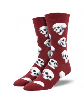 Мужские носки Socksmith «Сакральные черепа» бордо