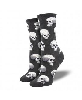 Женские носки Socksmith «Сакральные черепа» серые