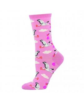 Женские носки Socksmith «Аисты» розовые