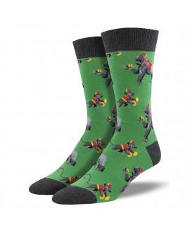 Мужские носки Socksmith «This Band Is Bananas» зеленые