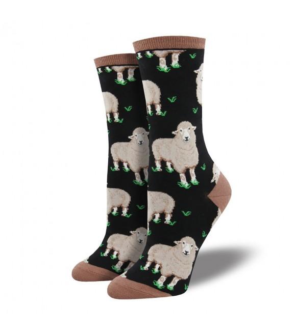 Женские носки Socksmith «Овечки» черные