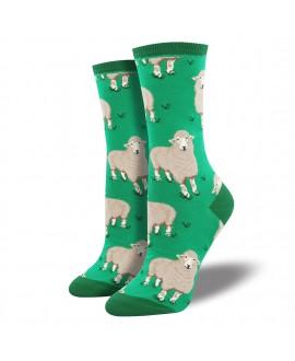 Женские носки Socksmith «Овечки» зеленые