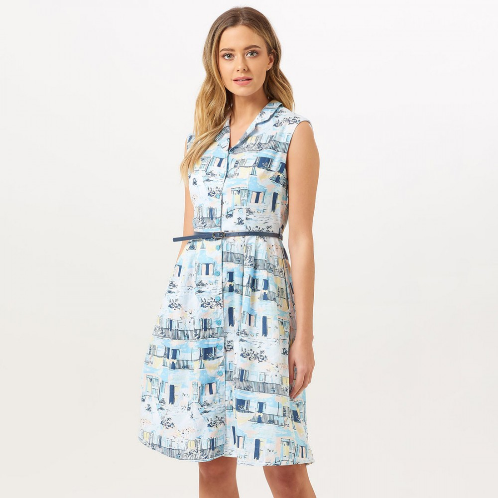Платье Sugarhill Brighton 'Adora' с узором «Старая Гавана» - Фото 2