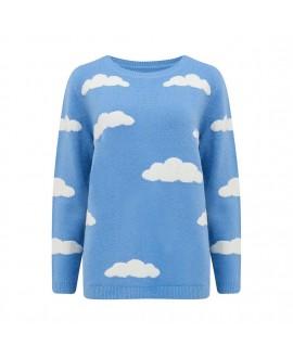 Свитер Sugarhill Brighton 'Aliana' голубой с облаками
