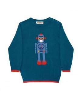 Детский джемпер Sugarhill Brighton 'Nico Mini-Mi' с роботом