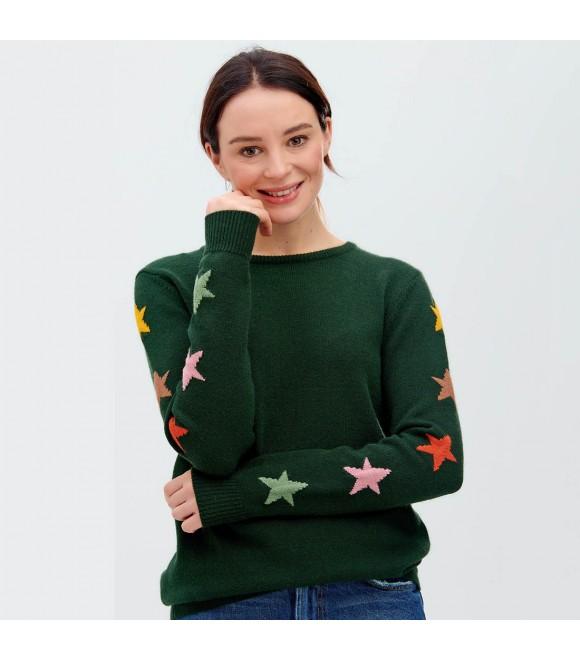 Джемпер Sugarhill Brighton 'Stacey' зеленый со звездами
