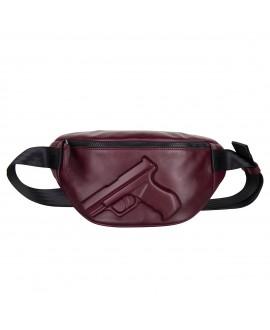 Поясная сумка Vlieger & Vandam c пистолетом бургунди